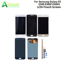 Alesser For Samsung Galaxy E5 E500 E500F E500H LCD Display And Touch Screen Screen Digitizer Adjust Brightness +Tools +Adhesive