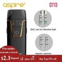 Aspire Nautilus AIO Vape kit 4.5ml Capacity Pod fit Nautilus BVC 1.8ohm Coil Built in 1000mAh Battery Electronic Cigarette New