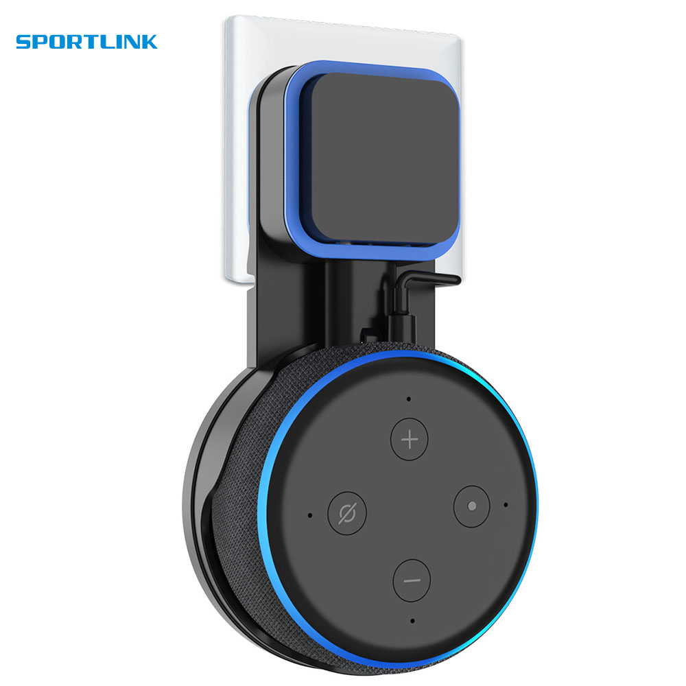 For Amazon Alexa Echo Dot 3rd Generation Outlet Wall Mount Hanger Holder Stand  Space Saving Bracket Assistants Accessories