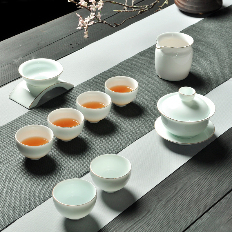 Kung Fu Tea Have Suit A Complete Set High Archives Trace A Design In Gold Black Tea Infusion Of Tea Organ Ceramics TeacupKung Fu Tea Have Suit A Complete Set High Archives Trace A Design In Gold Black Tea Infusion Of Tea Organ Ceramics Teacup