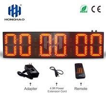 alibaba express 8  inch 6 digits semi-outdoor led large digital wall clock display