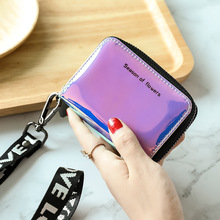 Laser Card Bag Female Style Small New Cute Multi-card Zipper Zero Wallet