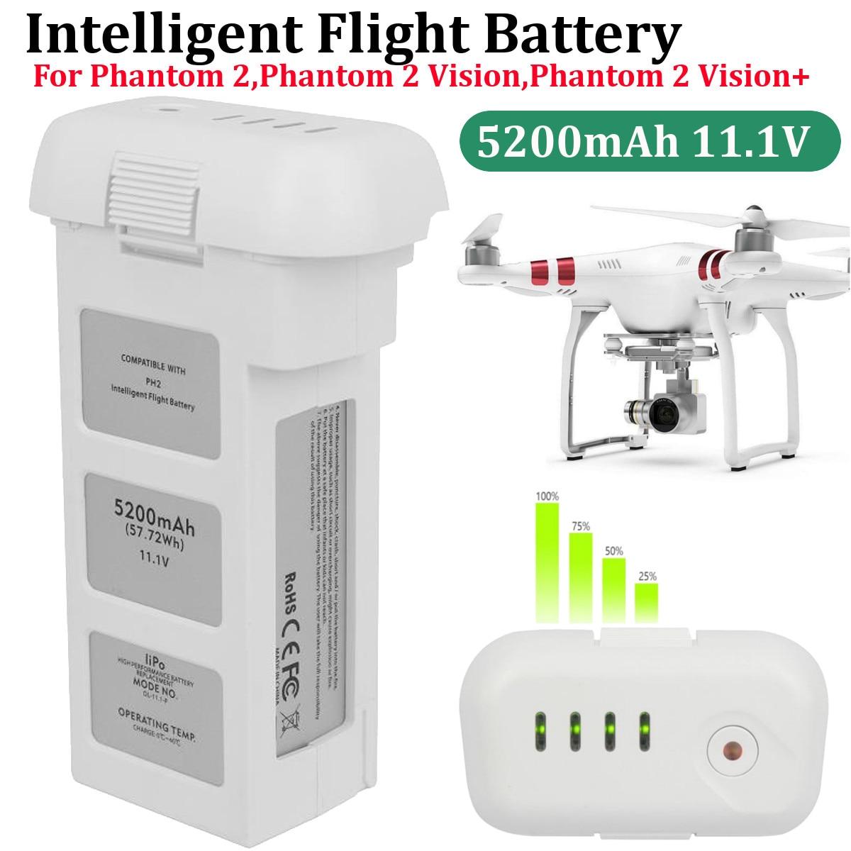 5200mA Genuine DJI Phantom 2 3 Intelligent Flight Battery 15.2V,LiPo 4S 856678P Consumer Electronic Drone Battery 2019 New