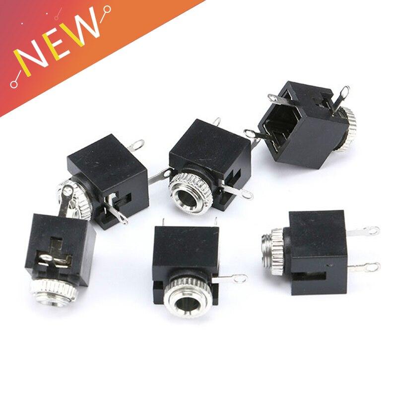 10Pcs 3.5mm Stereo Jack Socket Audio Jack Connector PCB with nut / 301M stereo10Pcs 3.5mm Stereo Jack Socket Audio Jack Connector PCB with nut / 301M stereo