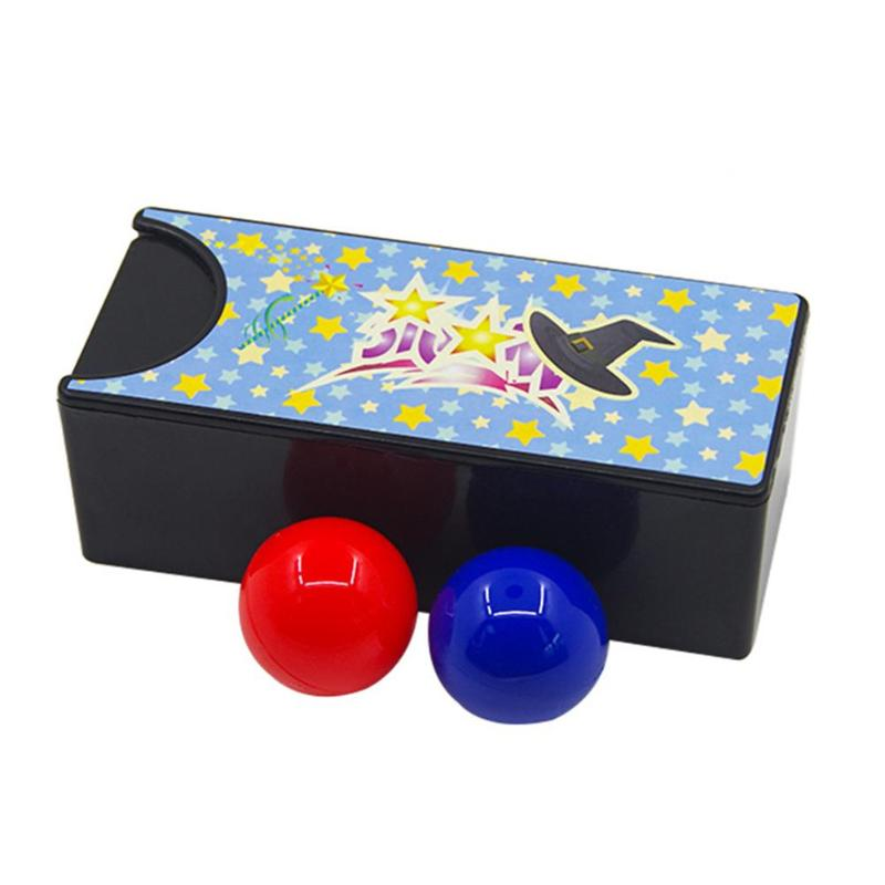 2018 New 1set Funny Kids Toys Changeable Magic Box Turning the Red Ball into the Blue Ball Props Magic Tricks Toys