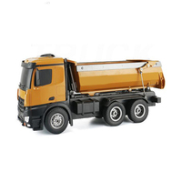 HuiNa1573 2,4 г 10CH 1/14 Мини RC щетки автомобильные двигатель грузовиков металлический бульдозер зарядки РТР грузовик строительство транспортного