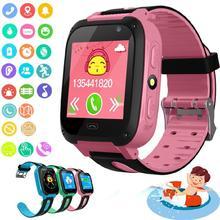 Детские Смарт-часы с водонепроницаемым циферблатом, Смарт-часы с функцией вызова, GPS-трекером, функцией отслеживания местоположения, детски...