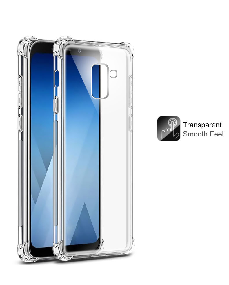 Clear Shockproof TPU Case For Samsung Galaxy S10 E S8 S9 A6 A8 Plus A7 A9 2018 J4 J6 J8 Note 8 9 Air Cushion Silicone Housing
