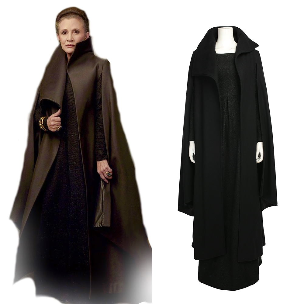 Star Wars Episode VIII The Last Jedi Princess Leia Organa Solo Cosplay Costume