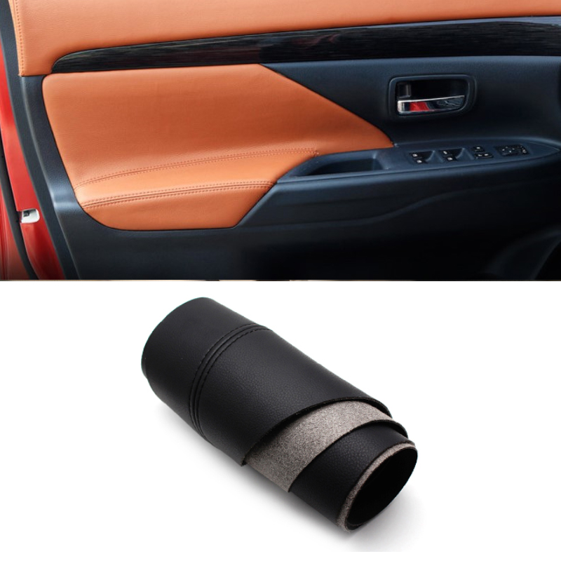 For <font><b>Mitsubishi</b></font> Outlander 2014 2015 2016 2017 2018 4PCS Car Interior Microfiber Leather <font><b>Door</b></font> <font><b>Handle</b></font> Panel Armrest Cover Trim image