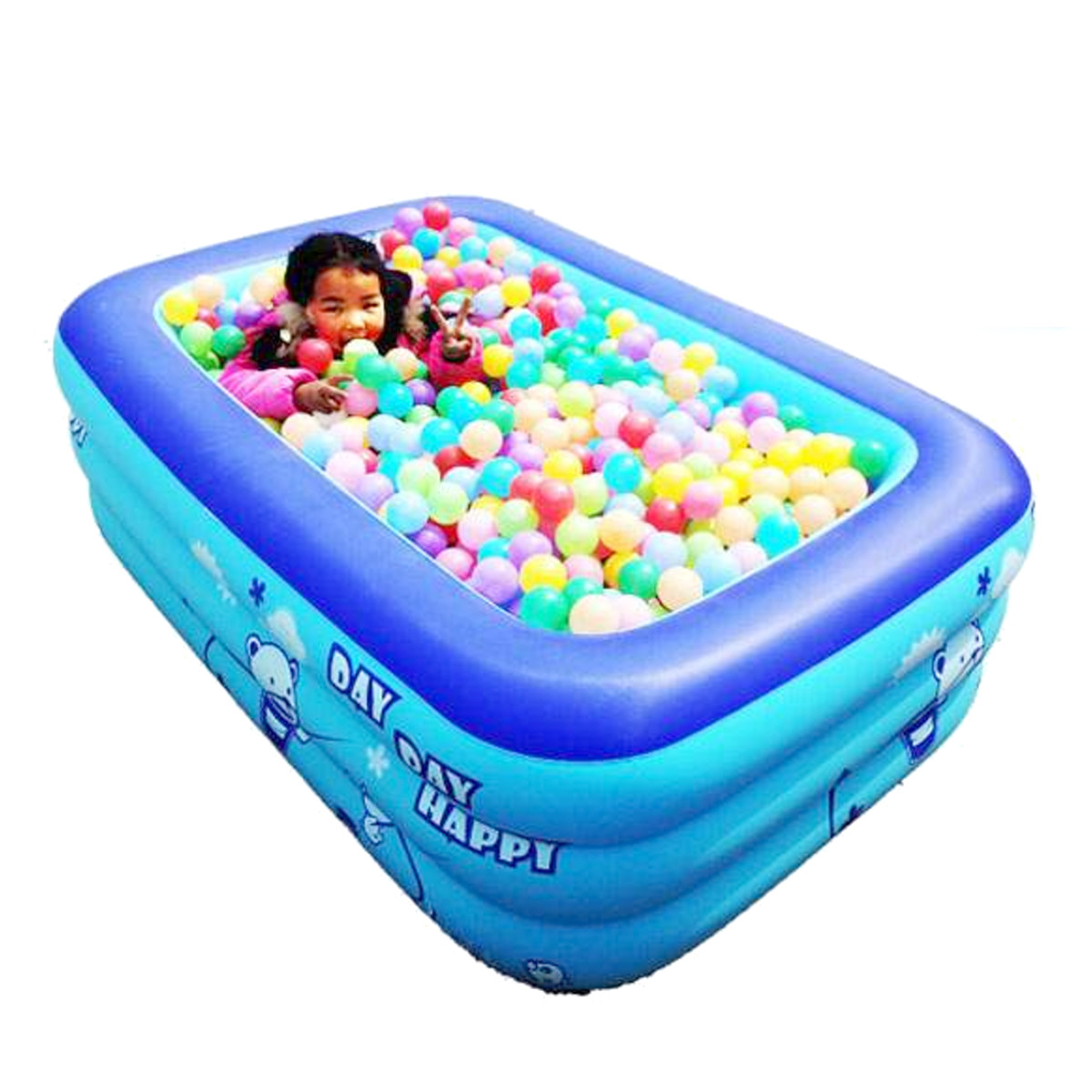 120/130/150 Cm Kinder Badewanne Baby Zu Hause Verwenden Paddeln Pool Aufblasbare Quadrat Schwimmbad Kinder Aufblasbare Pool Ozean Ball