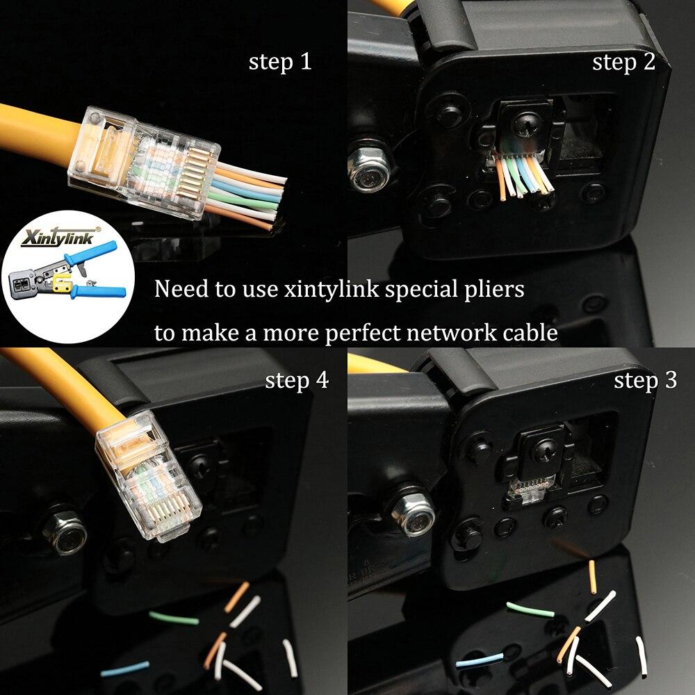 Image 5 - Xintylink EZ rj45 разъем cat6 rj 45 ethernet Кабельный разъем utp 8P8C cat 6 сетевой неэкранированный модульный легкий lan терминалы