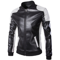 Motorcycle Leather Jackets Men Autumn Winter Leather Clothing Men Leather Jackets Male white casual Coats Brand Plus Size 5XL