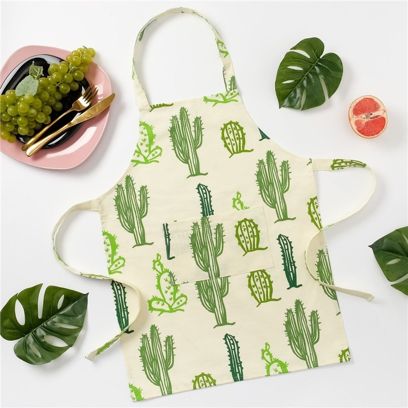 Apron children Ethel Cacti, 46 × 60 cm, репс, pl. 130g/m², 100% cotton decorative pillow case ethel triangles 45x45 cm репс pl 130g m² 100% cotton