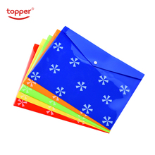 12pcs/set freeshiping A4/FC size opaque printed Plastic document bag file Folders Filing Storage Office School Supplies File bag