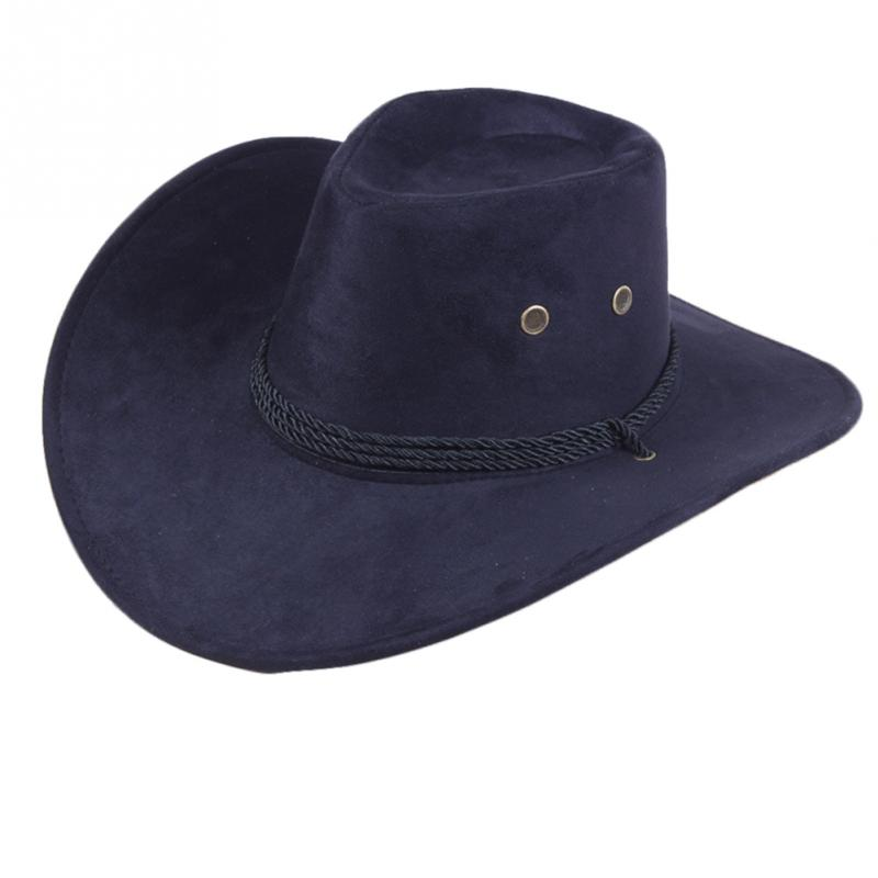 2019 NEW <font><b>Unisex</b></font> Sun Shield <font><b>Cowboy</b></font> Summer <font><b>Unisex</b></font> Casual Artificial Leather Wide <font><b>Hat</b></font> Western stetson Buckaroos <font><b>Hat</b></font> Accessories image