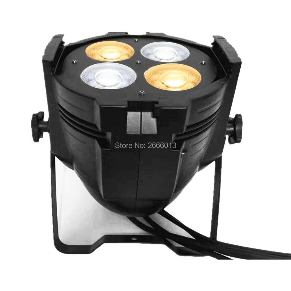 4 Eyes 4X50W COB 200W 2in1 Warm+Cold White LED Par Light/DMX512 COB Effect Stage Par LED Light/200W LED Spot Projector Lights