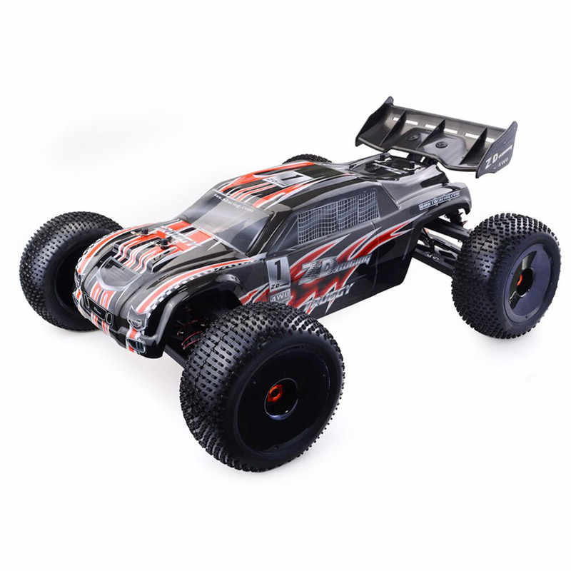 ZD Balap 9021V3 1/8 110Km/Jam 4WD Brushless Truggy Frame DIY RC Car Kit Tanpa Suku Cadang Elektronik