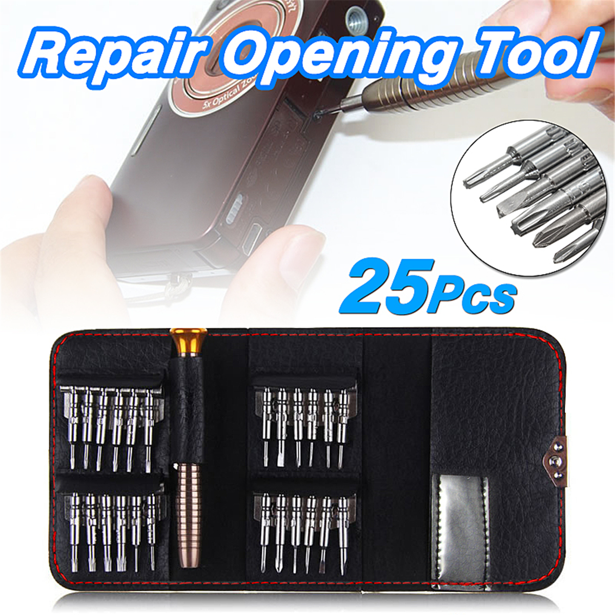 Cell Phone Repair Tools Set 25 In 1 Precision Torx Screwdriver For Obeng Jakemy Jm 8101 33 Tool Kit Drillpro Wallet Iphone Cellphone Electronics