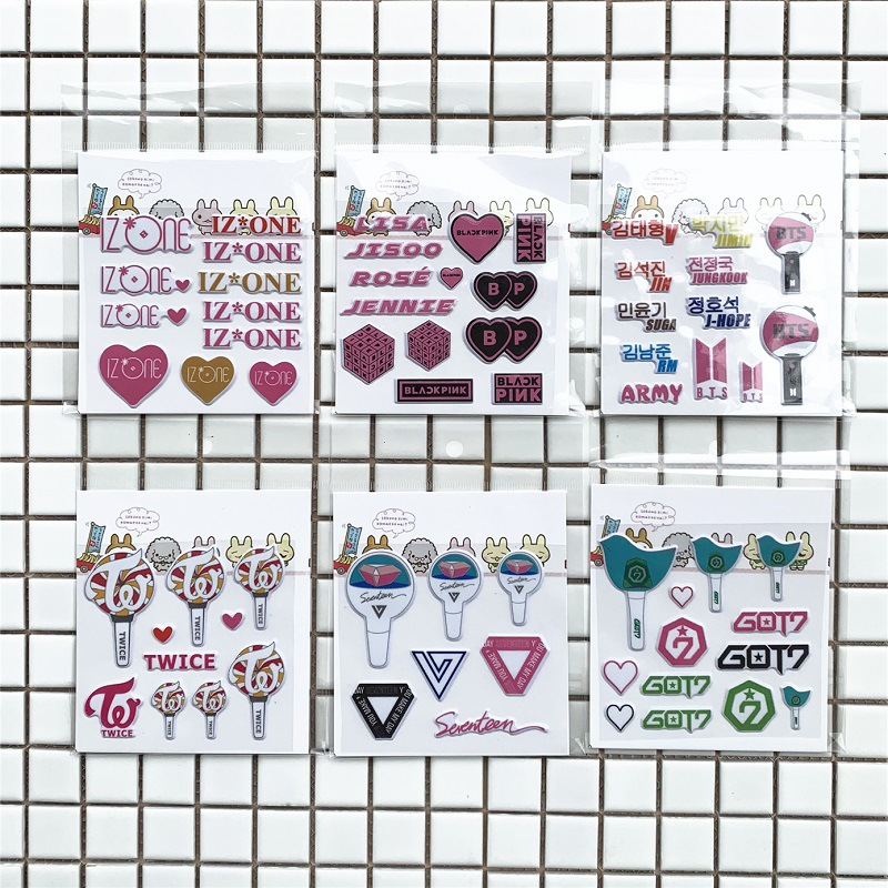 Classic Toys Stickers 100 Sheets/lot Bangtan Sticker Phone Idol Blackpink Twice Izone Seventeen Got7 For Journal Lightstick Neither Too Hard Nor Too Soft