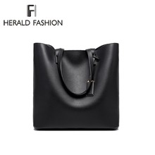 Herald Fashion Luxury Women Shoulder Bags PU Leather Big Cap