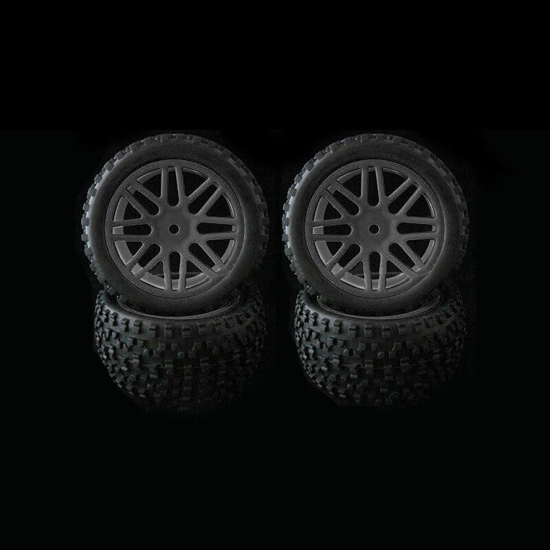 4 pcs Jante & Rubber Tyre Pneus Para RC 1/10 Off-Road Buggy Car pneus de Substituição