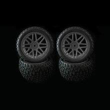 4 rodas dos pces rim & pneus de borracha do pneu para a substituição do buggy do carro do fora estrada de rc 1/10