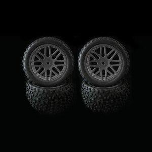 Image 1 - 4 stücke Felge & Gummi Reifen Reifen Für RC 1/10 Off Road Auto Buggy Ersatz
