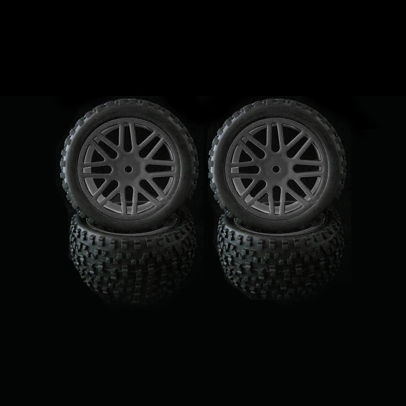 4pcs Wheel Rim & Rubber Tyre Tires For RC 1/10 Off-Road Car Buggy Replacement4pcs Wheel Rim & Rubber Tyre Tires For RC 1/10 Off-Road Car Buggy Replacement