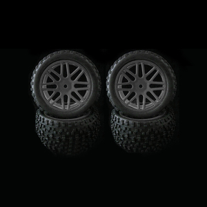 Image 1 - 4pcs Wheel Rim & Rubber Tyre Tires For RC 1/10 Off Road Car Buggy Replacement