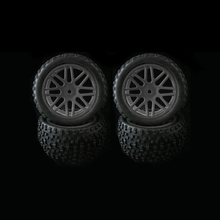 4pcs Wheel Rim & Rubber Tyre Tires For RC 1/10 Off-Road