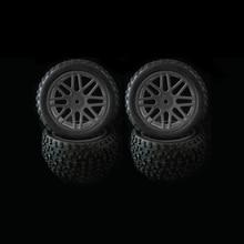 Rc 1/10 오프로드 자동차 버기 교체에 대 한 4 pcs 휠 림 & 고무 타이어 타이어