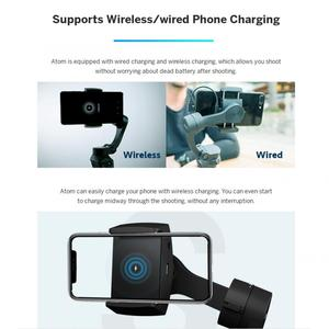 Image 5 - Hot Snoppa Atom 3 Axls Foldable Pocket Sized Handheld Gimbal Stabilizer Folding Stabilizer for iPhone for GoPro with charging