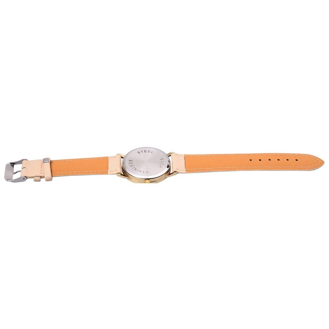 neutral Plum flower Deer Leather belt Quartz watch 3