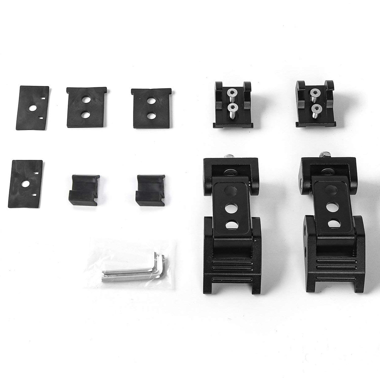 Aluminium + acier inoxydable couvercle boucle serrure noir moteur serrure kit Wrangler capot serrure pour 2007-2017 Jeep Wrangler