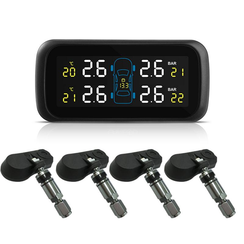 Universal Car TPMS Tire Pressure Monitoring System Display Internal Anti theft Sensors Tire Pressure Monitor Real