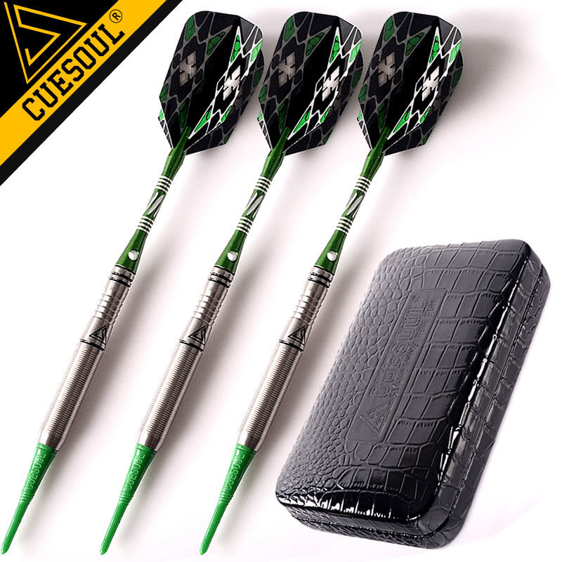 CUESOUL Professional Darts 90% Tungsten Darts Soft Darts 18Grams 15cm With Case