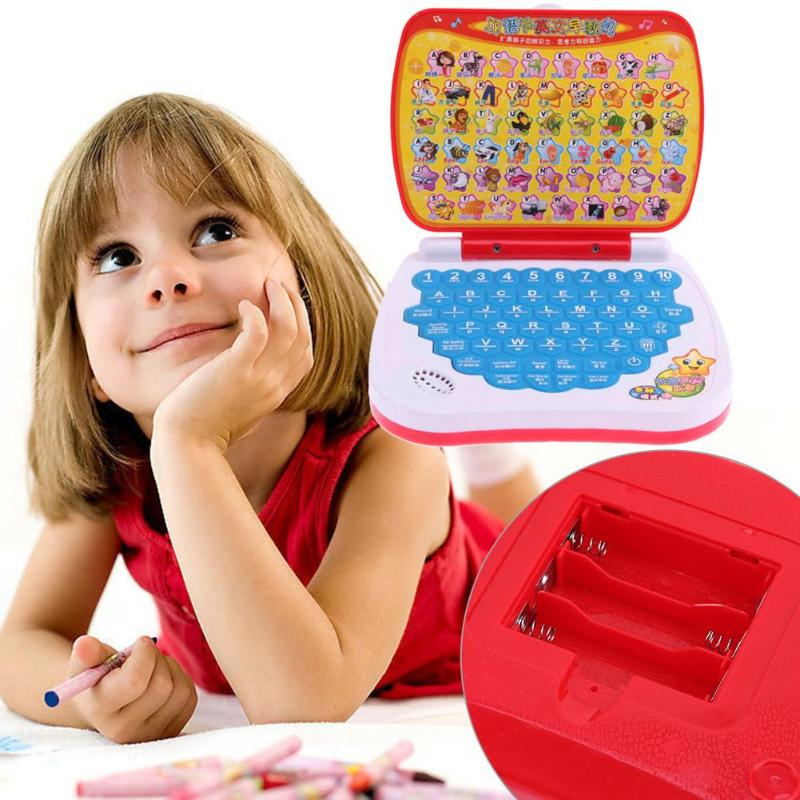 Multifunction Bilingual Learning Machine Children Mini Laptop Computer Alphabet Pronunciation Early Educational Toys For Baby