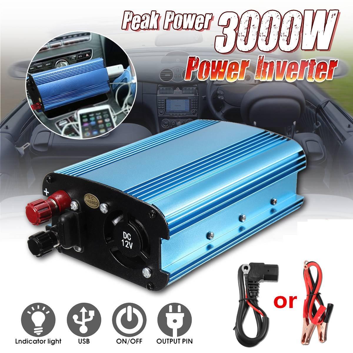 Solar Inverter 12V 24V 48V 60V 500W 3000W Pe ak Power Inverter Voltage Converter Transformer DC 12V AC 220V InversorSolar Inverter 12V 24V 48V 60V 500W 3000W Pe ak Power Inverter Voltage Converter Transformer DC 12V AC 220V Inversor