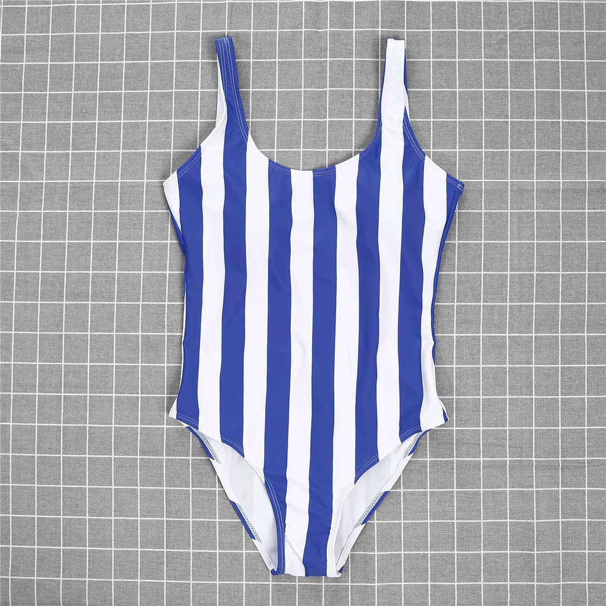 2019 New Sexy Womens Một Mảnh Push Up Độn Monokini Bãi Biển Sọc Backless Đồ Bơi Áo Tắm Mặc Bikini Tắm Phù Hợp Với Beachwear