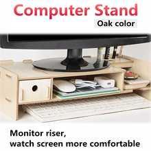 Деревянная многофункциональная настольная подставка для монитора, компьютерный экран, стояк, полка, крепкая подставка для ноутбука, настольный держатель для ноутбука, телевизора