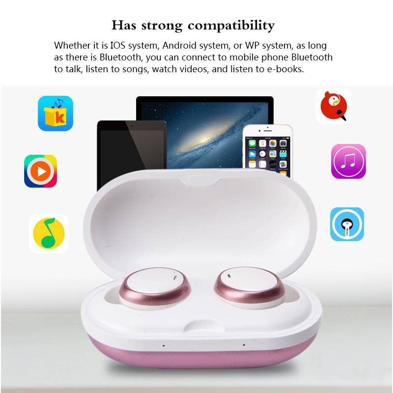 BT08 TWS Wireless Headsets With Mic 5.0 Bluetooth Earphone Binaural Stereo Sound Earbuds Handsfree Headphone for Sports Gaming
