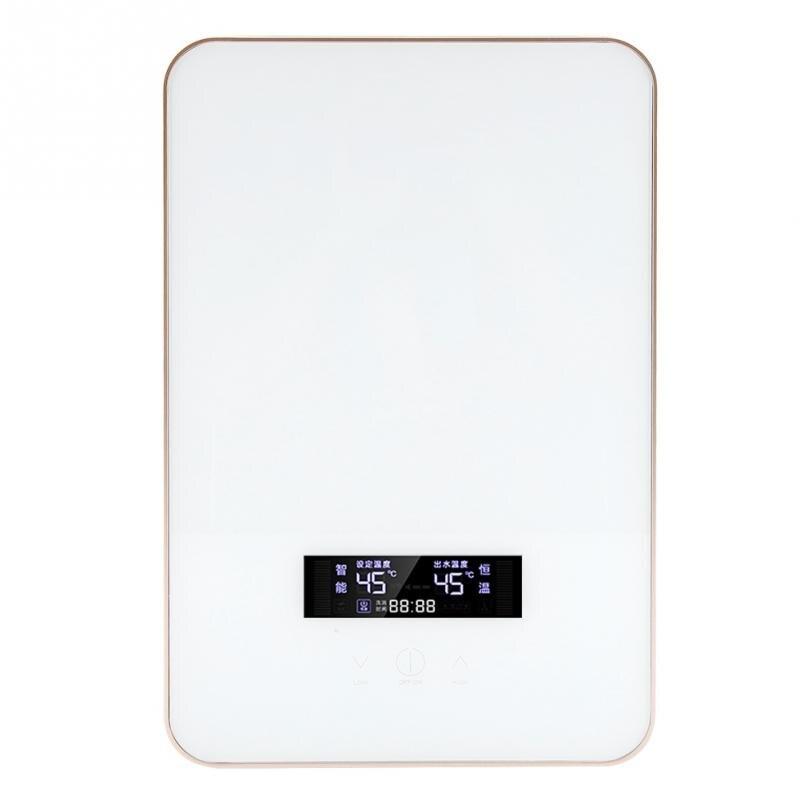 Sinnvoll 8500 W 220 V Elektrische Heißer Wasser Heizung Tankless Instant Boiler Bad Dusche Set Thermostat Sichere Intelligente Automatisch Neue Warmwasserbereiter