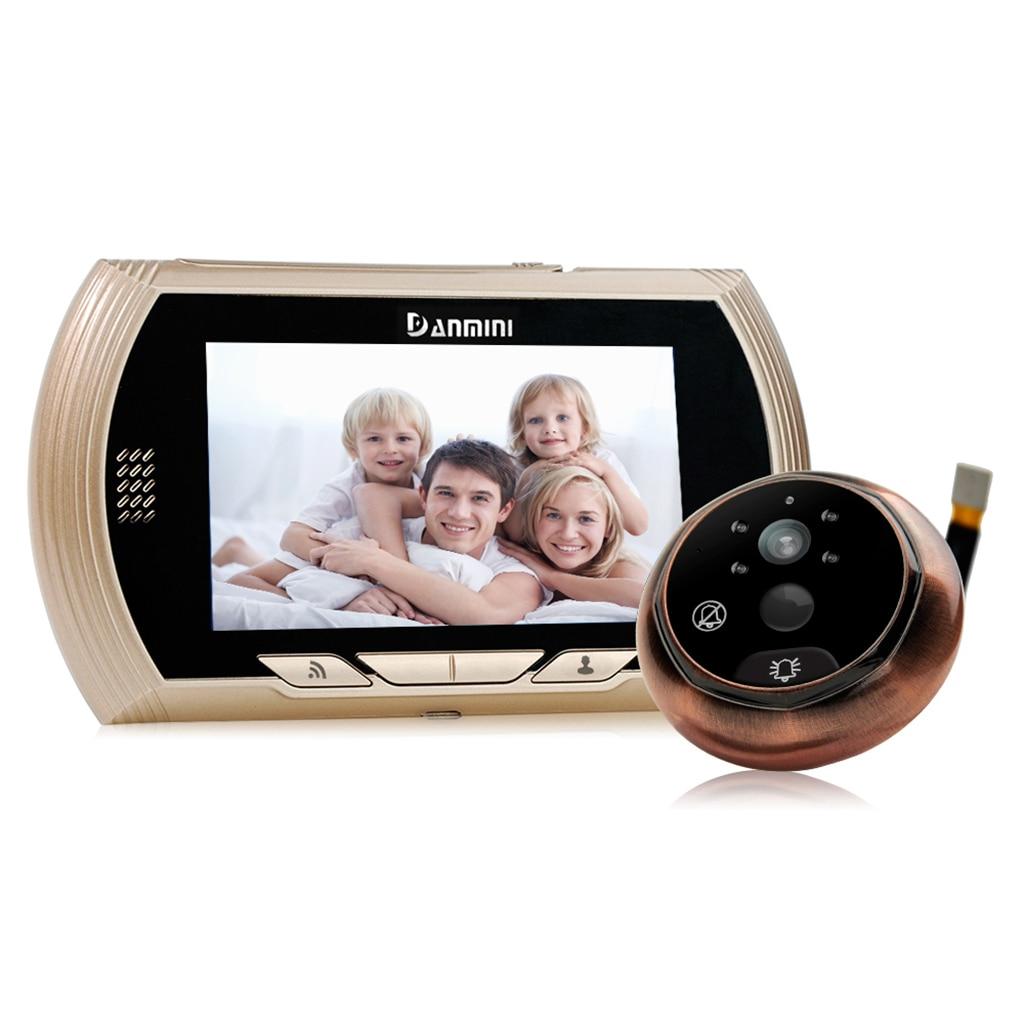 DANMINI 4.3 Inch 2MP 150 Degree WIFI Doorbell Motion Detection Video Door Phone Peephole ViewerDANMINI 4.3 Inch 2MP 150 Degree WIFI Doorbell Motion Detection Video Door Phone Peephole Viewer