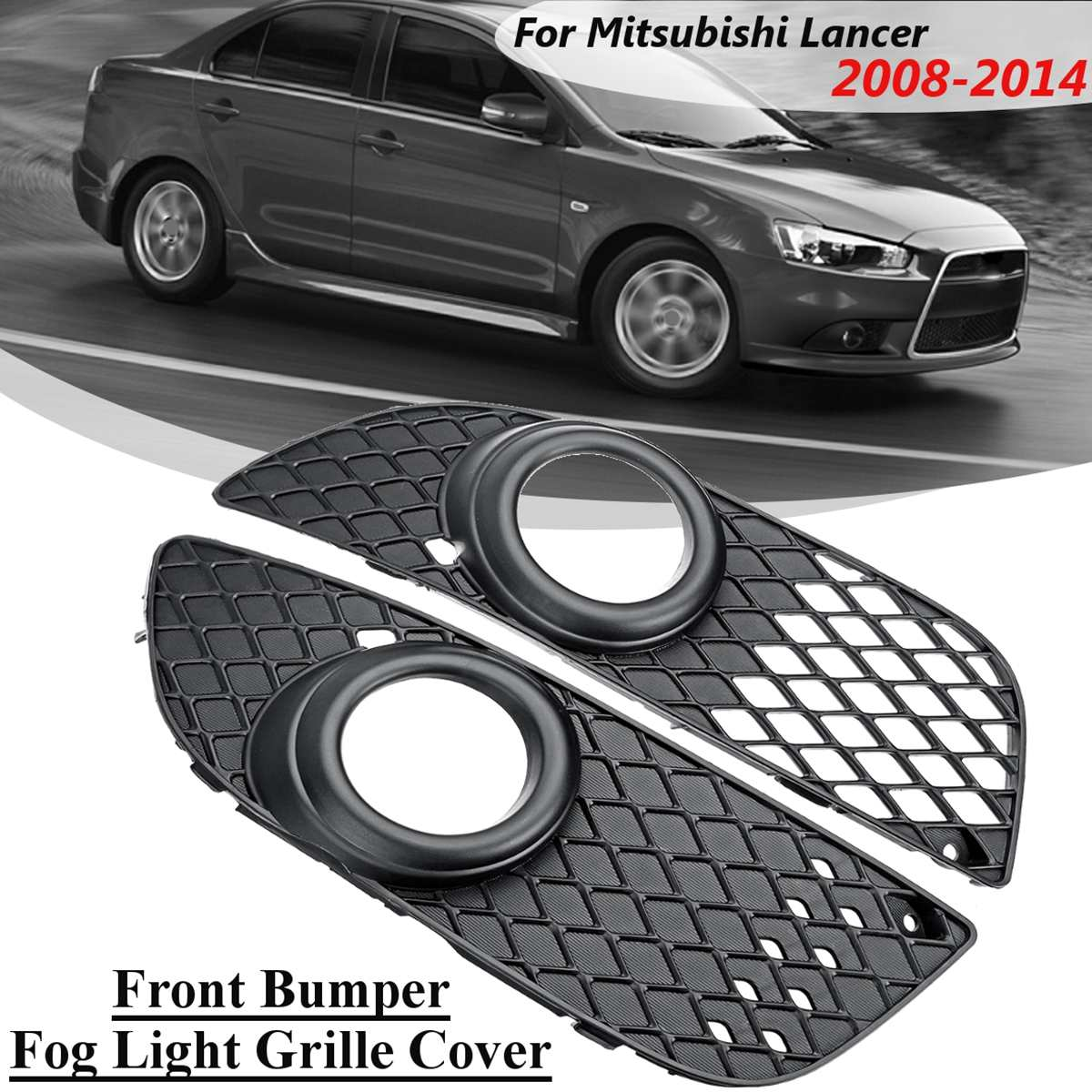 MITSUBISHI ASX 2010-2013 Left front bumper lower grille with fog lights hole LH