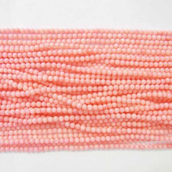Coral Natural Loose Beads 2-2.5mm Round 15 inches length 38 Wholesale
