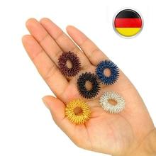 5 قطعة خاتم تدليك للإصبع مجموعة الرعاية الصحية للاستخدام المنزلي أدوات العناية بالصحة أداة تدليك تعمل بالضغط الإبري أداة الاسترخاء للعناية بالأصابع