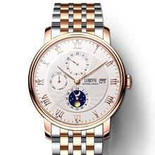 Switzerland LOBINNI Men Watches Luxury Brand Wristwatches Seagull Automatic Mechanical Clock 316L Ss relogio masculino L1023-8