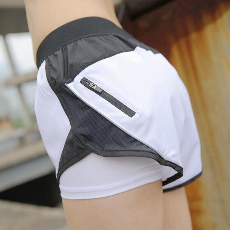 Running Sportwear Women Sport Short Two Layers Anti-light Yoga Gym Shorts