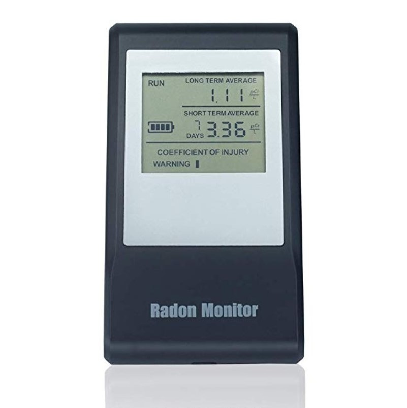 Air as steward 2019 best radon detector portable radon gas detector with lcd display rechargeable battery